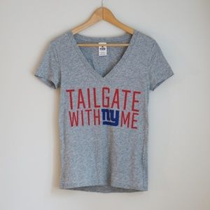 """VS PINK NY Giants """"Tailgate with Me"""" T-Shirt"""
